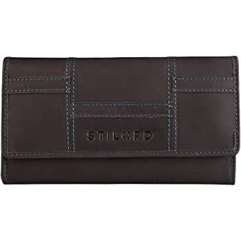 Geldbörse dunkelrot Etui Querformat Leder Wallet Portmonaie  Modell 3