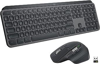 Logitech MX Keys Illuminated Wireless Keyboard for Business & MX Master 3 Wireless Mouse for Business, Windows/Mac/Linux L...