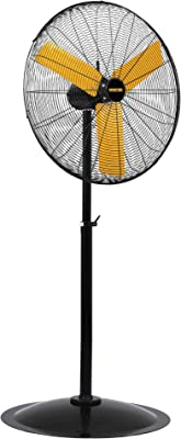 Master 30 Inch Industrial High Velocity Pedestal Fan - Direct Drive, All-Metal Construction with OSHA-Compliant Safety Guards, 3 Speed Settings (MAC-30P)