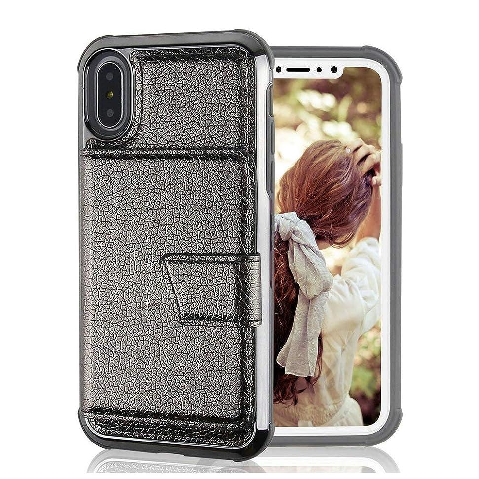 些細な超高層ビル口ひげiPhone ケース レディース メンズ 携帯ケース PU皮 カードポーチ iPhone7/8/7Plus/8Plus,iPhone X/XR,iPhoneXS/XS MAX (iPhone8 ケース)