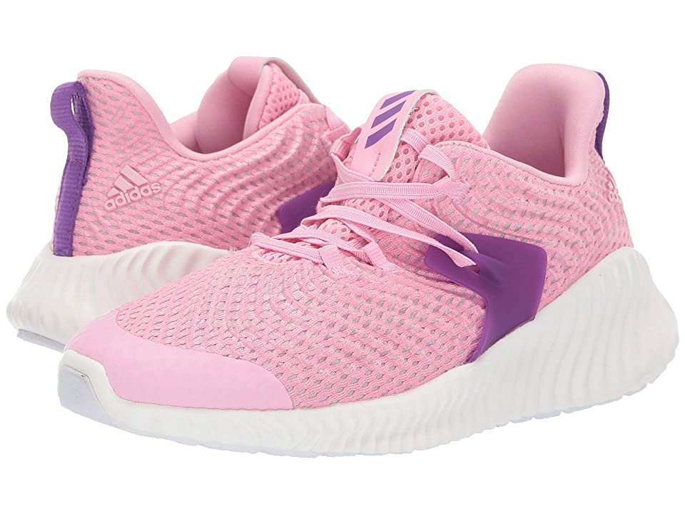 adidas Kids Alphabounce Instinct EL (Little Kid) (True Pink/Active Purple/Cloud White) Girls Shoes