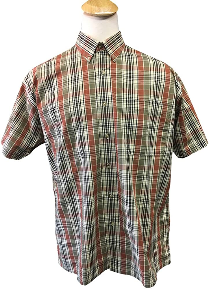 Copper Cove Big and Tall Two Pocket Short Sleeve Plaid Shirt