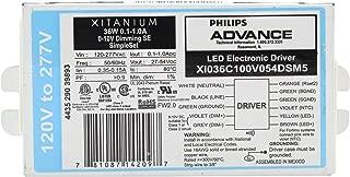 Advance XI036C100V054DSM5 Xitanium Dimmable LED Driver, 36W, 27-54V, 120/277V