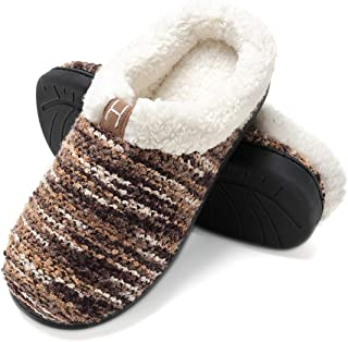 COCOHOME Men's and Women's Slippers Warm Stylish Fleece Lined Indoor & Outdoor Non-Slip House Shoes