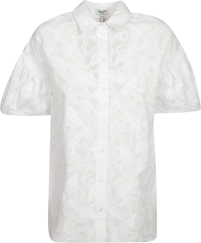 KENZO Women's F952CH00253501 White Cotton Shirt