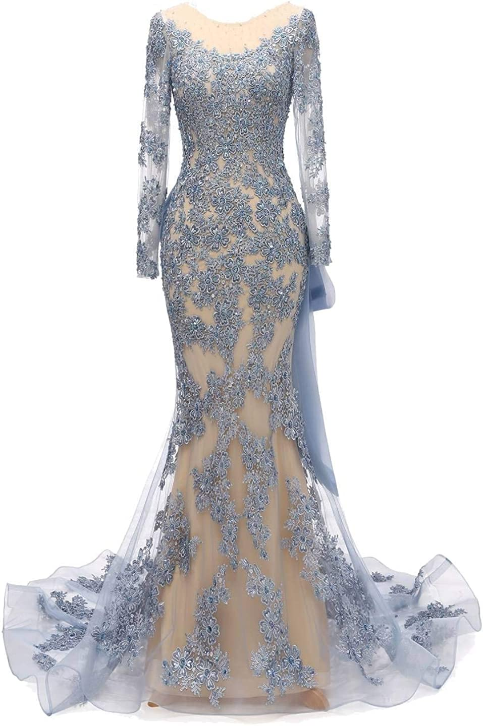 YINGJIABride Gorgeous Lace Mermaid Dres OFFicial store Formal Evening High order Reception