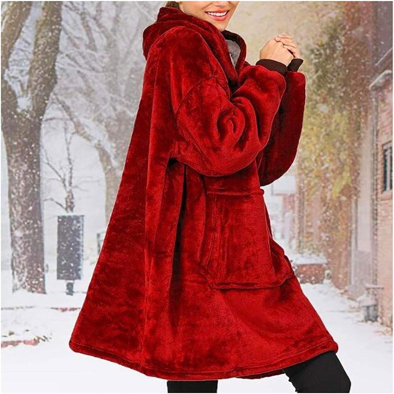ZHBD Robes Grande Capuche Femme Blanket Hiver avec Manches Femmes géant TV Couverture surdimensionné Sweat Shirt molletonné à Capuche Sweats à Capuche 92.25D (Color : Grey) Grey