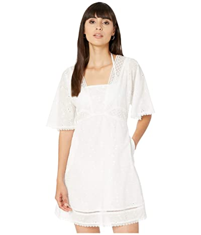 Jonathan Simkhai Kendra Embroidered Eyelet Cover-Up Dress (White) Women