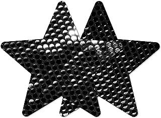 Nippies Style Black Sequin Star Waterproof Self Adhesive Nipple Cover Pasties