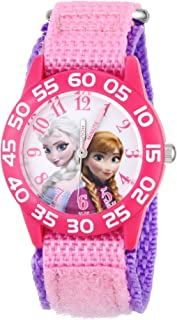 Disney Girls' Anna & Elsa Plastic Pink Watch