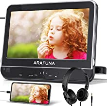 """10.1"""" Car DVD Player with Headrest Mount, ARAFUNA Headrest DVD Player with Headphone, HDMI Input, 1080P Video Support, Cla..."""
