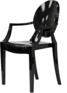 Modway Philippe Starck Style Louis Ghost Chair, Black