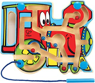 Award Winning Hape Choo Choo Tracks Kid's Magnetic Wooden Maze Puzzle