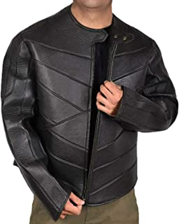 Black Leather Jacket - Slimfit Motorcycle Genuine Leather Mens Biker Jacket