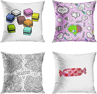 Menmek Throw Pillow Cover Decorative 18 x 18 Inch Pillow Case Selection Cubic Square Colourful Liquorice Licorice All You Need Line Art Home Car Sofa Office Meeting Room Decor Cushion Pillowcase