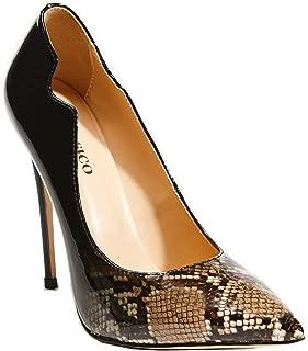 black leather pumps 3 inch heel