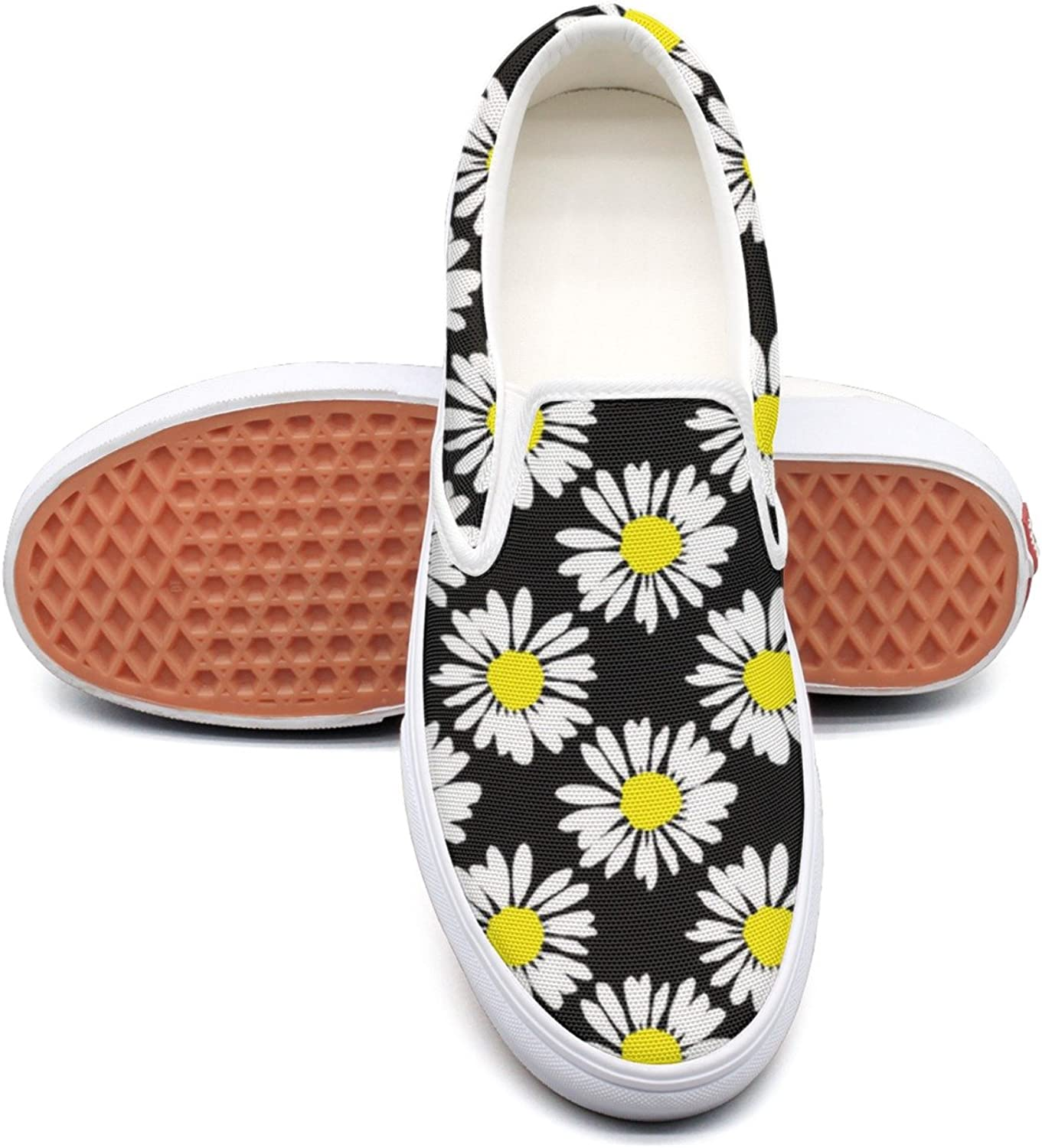 Hjkggd fgfds Casual Daisies Flower Yellow White Womens Ladies Canvas shoes