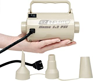 Sun Pleasure EZ INFLATE Supreme High Volume AC Air Pump - Inflator Deflator Air Pump with 3 Universal Nozzles - Electric Air Pump for Inflatables, Airbeds, Inflatable Pool (Home 1.2 PSI)