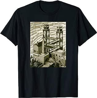 MC Escher Waterfall Optical Illustion T-Shirt - 3 Colors!