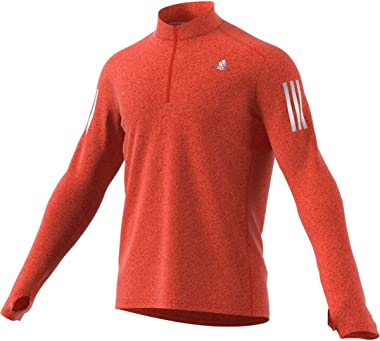 adidas Men's Response Long sleeve Zip Tee