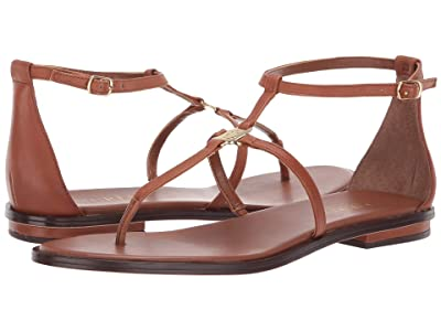 LAUREN Ralph Lauren Nalaine (Deep Saddle Tan Super Soft Leather) Women