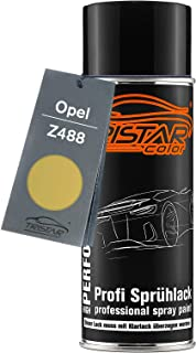 TRISTARcolor Autolack Spraydose für Opel Z488 Brokatgelb Metallic/Brocade Yellow Metallic Basislack Sprühdose 400ml