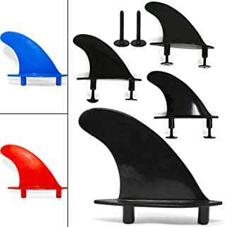 Universal Soft Top Surfboard Fins - Safe Round - Edged Fins for Foam Surf Boards