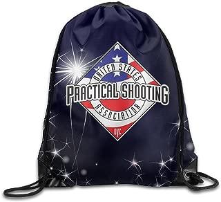 Outdoor Drawstring Gym Bag String Bag United States Practical Shooting Association Logo