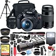 Canon EOS Rebel T7 DSLR Camera with EF 18-55mm with EF 75-300mm Double Zoom Kit Bundle with 500mm...