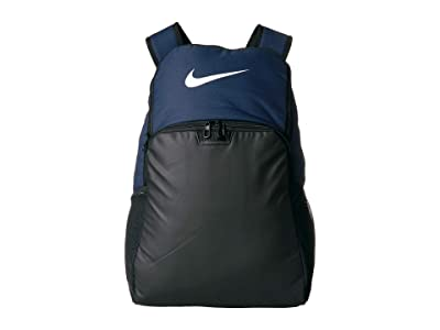 Nike Brasilia XL Backpack 9.0 (Midnight Navy/Black/White) Backpack Bags