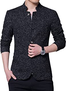 Jueshanzj Men's Slim Fit Suit Jacket with Six Button