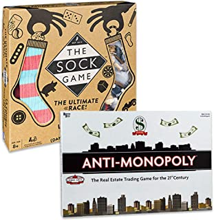 Anti-Monopoly The Sock Game Hilarious Family Game for Kids Ages 8 and Up
