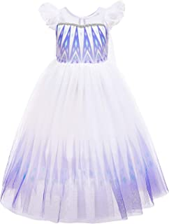 Tsyllyp Princess Costumes for Girls Cosplay Halloween Party Dresses Prom Ball Gown