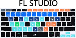 MMDW FL Studio [ Formally Fruity Loops ] Edit Faster Shortcuts Hot Keys Silicone Keyboard Cover Skin for MacBook Pro 13
