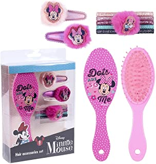 CERDÁ LIFE'S LITTLE MOMENTS - 8-delige haaraccessoireset voor meisjes met Minnie Mouse - officieel Disney-licentieproduct.