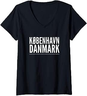 Womens Koebenhavn - Copenhagen - CPH V-Neck T-Shirt