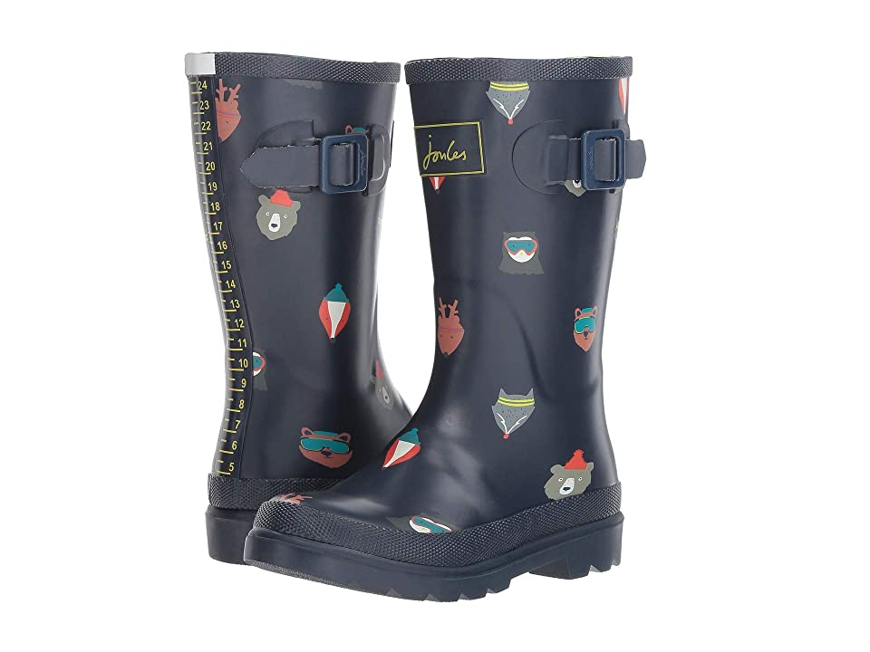 Joules Kids Printed Welly Rain Boot (Toddler/Little Kid/Big Kid) (French Navy Animals) Boys Shoes