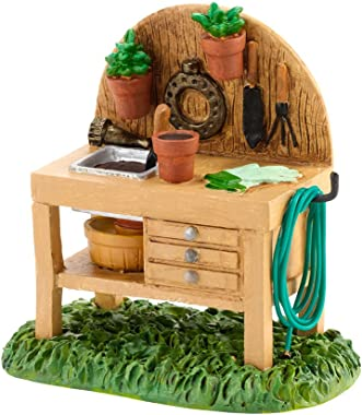Department 56 Accessories for Villages My Garden Potting Bench Accessory, 2.05 inch