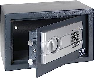 comprar comparacion HMF 4612112 Caja fuerte cerradura electrónica 31 x 20 x 20 cm, antracita