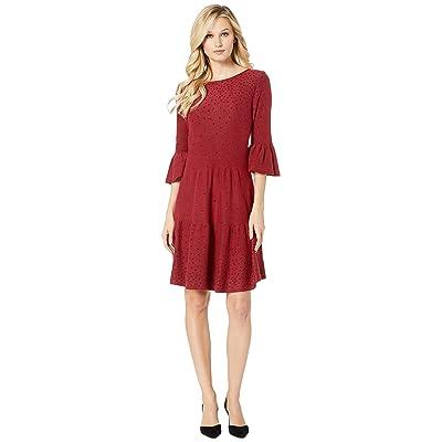 NIC+ZOE Celestial Stud Dress (Ruby) Women