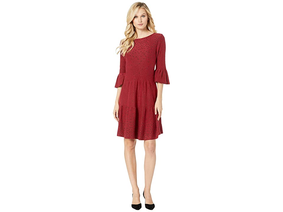 NIC+ZOE Celestial Stud Dress (Ruby) Women