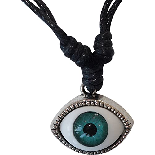 "9ct Yellow Gold Enamel Evil Eye Pendant Inc 16/"" Chain Luxury Gift Box"