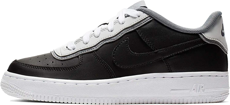 Nike Men's Air Force 1 Lv8 1 Dbl Gs Basketball shoes, Multicolour Black Pure Platinum Cool Grey 000, 5.5 UK