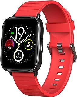 YP Bluetooth 4.0 Reloj Inteligente,Pulsera Actividad con Pulsómetro Mujer Hombre,Monitor Actividad Deportiva,Ritmo Cardíaco,Impermeable IP68,Reloj Fitness,smartwatch con Podómetro,Rojo