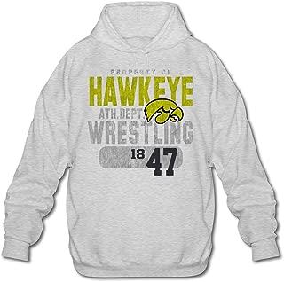 Agongda Men NCAA University Of Iowa UI Iowa Hawkeyes Wrestling Hoodie