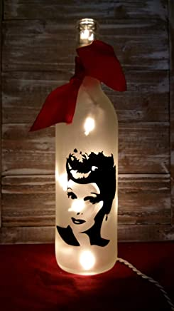 I Love Lucy Lucille Ball Bottle with Lights/Mother's Day/Lamp/Decoration