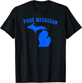 Pure Michigan Vacation Water Lake Fun Gift Idea T-Shirt