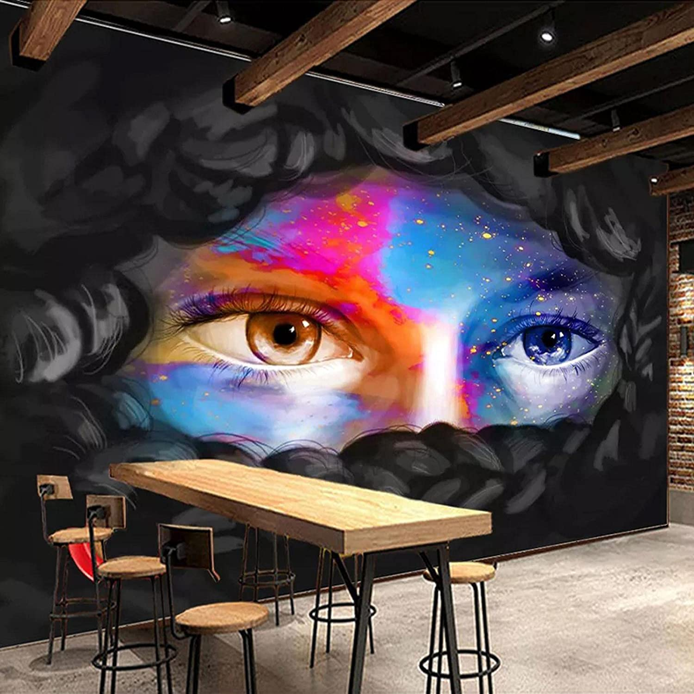 CTXmuar Removable DIY 3D Color Fashion Max 84% OFF Decor Max 61% OFF Eyes K Graffiti Art