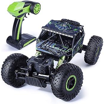 Jack Royal 1:18 Scale Rock Crawler 4WD Remote Control Rally Car (Green)
