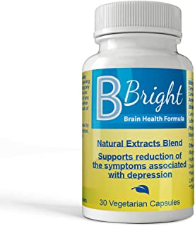 B Bright Brain Health Capsules – Reduced Depression, Improve Memory and Cognitive Capacity - 30 Depression Relief Capsules